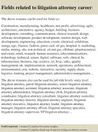 Attorney Resume Sample by Top 8 Litigation Attorney Resume Samples