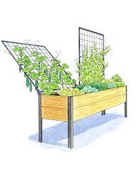 planters elevated planter box diy cedar raised on wheels plans