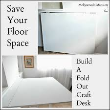 Fold Out Desk Diy Don T Any Space But Want A Big Craft Desk Build Your Own
