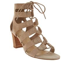 marc fisher suede lace up block heel sandals paradox page 1