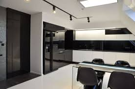 Black And White Kitchen Decorating Ideas Apartment Minimalist Apartment Kitchen With Black And White