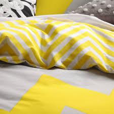marley yellow duvet cover set by logan and mason