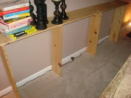 Sofa Table Against Wall Make A Sofa Table For Under 20 For Real From Thrifty Decor