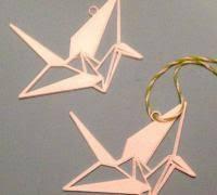 origami crane 3d models to print yeggi