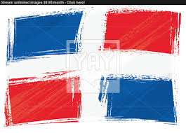 Domenican Flag Grunge Dominican Republic Flag Vector Yayimages Com