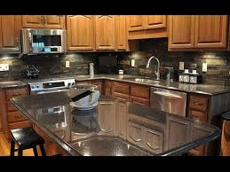 Backsplash Ideas Cherry Cabinets Backsplash For Black Granite Countertops And Cherry Cabinets