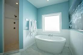 Wainscoting Over Tile Cottage Master Bathroom With Wainscoting U0026 Master Bathroom In