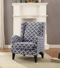 Wingback Accent Chair Homelegance 1277f2s 1277f2s Adlai Modern Grey Quatrefoil Fabric