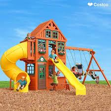Backyard Play Equipment Australia Bring The Playground To Your Backyard Costco Wholesale