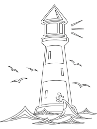 Advanced Coloring Pages Of Houses Sheets Lighthouse Coloring Light Coloring Page