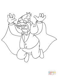 grandpa is a vampire bat for halloween coloring page free