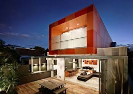 Home Design Architects Striking Orange Box South Yarra House Design By Lsa Architects