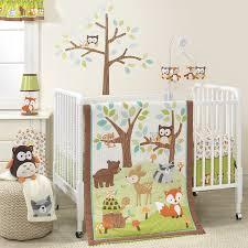 Crib Bedding Green 3 Crib Bedding Set Forest Woodland Animals Green Brown Baby