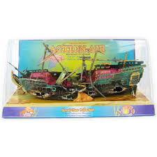penn plax penn plax air split shipwreck aquarium ornament