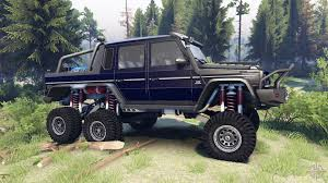 mercedes benz 6x6 benz g65 amg 6x6 final dark blue for spin tires