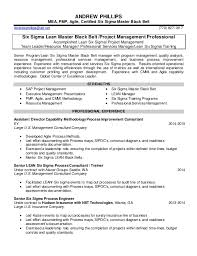 Six Sigma Black Belt Resume Examples by Lean Six Sigma Engineer Resume