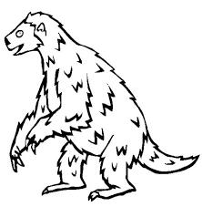 creepy sloth coloring creepy sloth coloring u2013 color luna