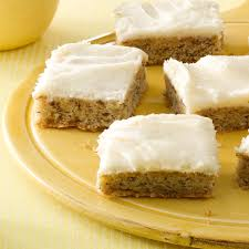 frosted banana bars recipe taste of home