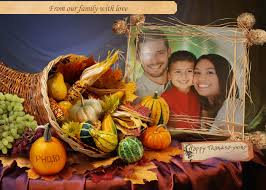 thanksgiving greeting card template say thank you with it