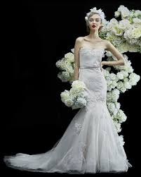 annasul y extravagant fitted wedding dress with 3d florals