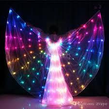Led Light Halloween Costume Led Light Cloak Color Beads Custom Dance Led Light Butterfly