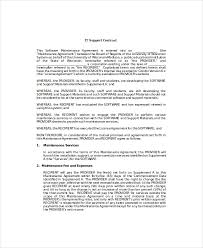 it contract template 5 free word pdf documents download free