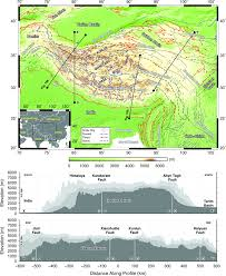 Tibetan Plateau Map Crustal U2013lithospheric Structure And Continental Extrusion Of Tibet