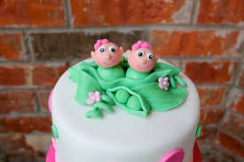 shower cakes for twins girls