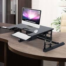 sitz steh schreibtisch computertisch erhöhung höhenverstellbar 2