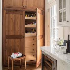 Oak Kitchen Pantry Cabinet White Kitchen With Oak Pantry Cabinets Design Ideas