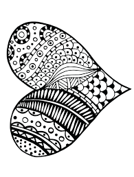 free printable heart coloring pages for adults valentine hearts