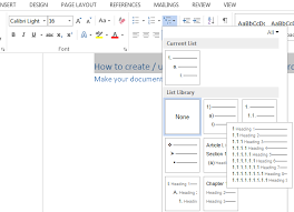 create table of contents in word how to create table of contents toc in microsoft word 2016 2010