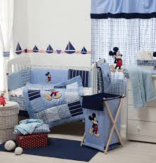 Mickey And Minnie Bed Set by Baby Moon Nursery Blue Mickey Mouse Bedding Collection Crib