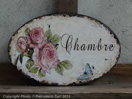 plaque de porte chambre plaque de porte chambre décor roses déco de charme seb10609 2