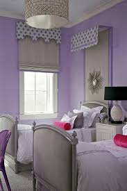 grey nightstand in kids transitional with purple grey next to