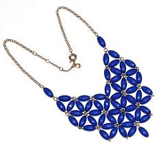 blue beaded necklace images Effie blue beaded bib necklace brazen and brash boutique png