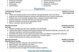 New Massage Therapist Resume Examples by Massachusetts Massage Therapist Resumes Samples Reentrycorps