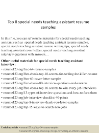 Resume Examples For Teacher Assistant by Special Needs Aide Resume Free Resume Example And Writing Download
