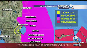 Deerfield Florida Map by Hurricane Watch In Effect From Deerfield Beach To The Volusia