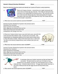 darwins natural selection worksheet evolution pinterest