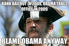 Blame Obama Meme - the tea party ted meme