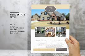 free real estate flyer templates ms word real estate flyer template flyer templates creative market