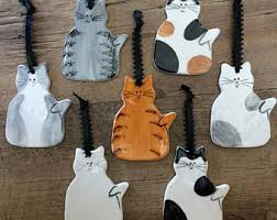 personalized cat ornament etsy