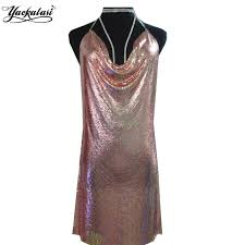 club clothes yackalasi party dress gold women club clothes chagne