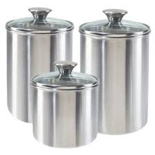 stainless steel canisters kitchen enchanting 30 kitchen canister sets stainless steel design ideas