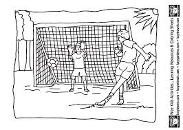 Soccer Practicing The Pitch Goal Coloring Page Bebo Pandco Soccer Coloring Page