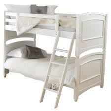 White Pine Bunk Beds Bedroom Bunk Bed Made Of Wood In White Finished With Ladder