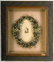 hair wreath digital collection framed hair wreath and photograph