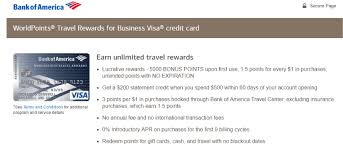 No Credit Business Credit Card Four Bank Of America Business Cards Offering 200 250 Sign Up