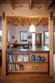 gray fox design works soapstone pine post and beam kitchen